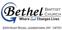 BETHEL BAPTIST CHURCH 200 HUNT ROAD, JAMESTOWN, NY 14701